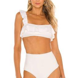 eberjey So Solid Jane Bikini Top in Ecru from Revolve.com | Revolve Clothing (Global)
