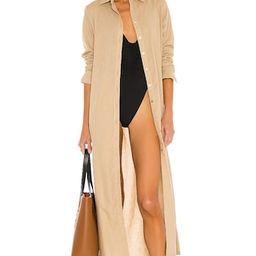PQ x REVOLVE Billie Button Down Dress in Tan from Revolve.com | Revolve Clothing (Global)