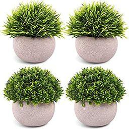 CEWOR 4 Packs Artificial Mini Potted Plants Plastic Faux Topiary Shrubs Fake Plants for Bathroom ...   Amazon (US)
