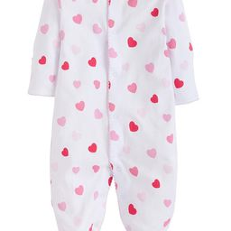 Girl Printed Footie - Hearts | Little English