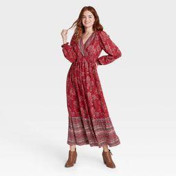 Women's Floral Print Bishop Long Sleeve Dress - Knox Rose™ | Target