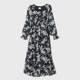 Floral Print Long Sleeve Chiffon Maternity Dress - Isabel Maternity by Ingrid & Isabel™ | Target