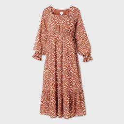 Animal Print Long Sleeve Chiffon Maternity Dress - Isabel Maternity by Ingrid & Isabel™ | Target
