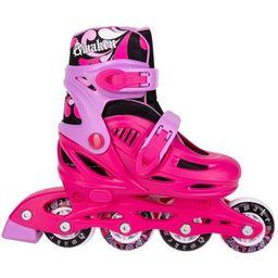 Cal 7 Adjustable Size Inline Roller Skates Kids Youth Boys Girls Youth (Kid's 4-Kid's 6, Pink) | Walmart (US)