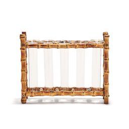 Natural Bamboo Vase Includes 5 Glass Tubes – BURKE DECOR   Burke Decor