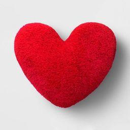 Sherpa Valentine's Day Heart Pillow - Spritz™   Target