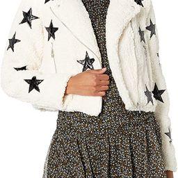[BLANKNYC] womens Women's Sherpa Moto Jacket With Vegan Leather Star Detail | Amazon (US)