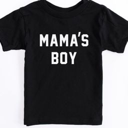 Mama's Boy Toddler Black Graphic Tee   The Pink Lily Boutique