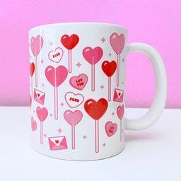 Valentine's Day Mug - Lollipops Candy Love Letters | Etsy (US)