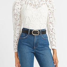 Lace Puff Sleeve Top   Express