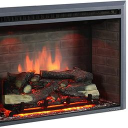PuraFlame Western Electric Fireplace Insert with Fire Crackling Sound, Remote Control, 750/1500W,... | Amazon (US)