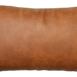 JOJUSIS Modern Leather Throw Pillow Cover for Couch Sofa Bed 12 x 20 Inch 100% Faux Leather | Amazon (US)