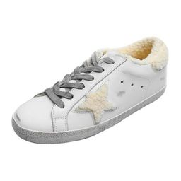 'Vanessa' Star Distressed Sneakers with Fleece Lining   Goodnight Macaroon