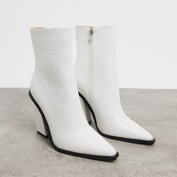 RAID Mirren heeled ankle boots in white croc   ASOS (Global)