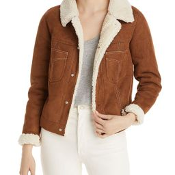 The Curved Pocket Faux Shearling Aviator Jacket   Bloomingdale's (US)