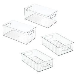 mDesign Plastic Kitchen Food Storage Organizer Bin, 4 Piece Set - Clear | Target