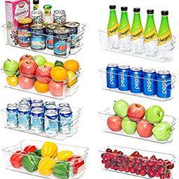 Refrigerator Organizer Bins, Vtopmart 4 Large and 4 Narrow Clear Plastic Fridge Organizers for Fr... | Amazon (US)