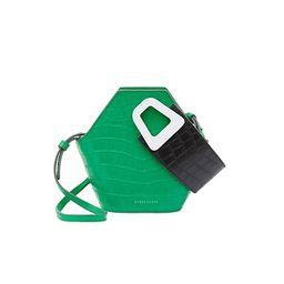 Extra-Small Johnny Geometric Croc-Embossed Leather Bucket Bag | Saks Fifth Avenue