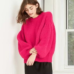 Women's Balloon Sleeve Boat Neck Pullover Sweater - A New Day™ | Target