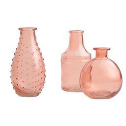 Coral Glass Bud Vases Set of 3 | World Market