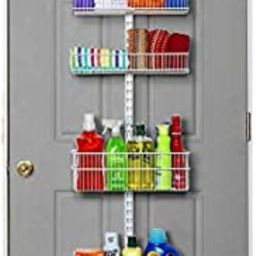 Allspace by Alltrade Over The Door Pantry Organizer Heavy Duty Hanging Storage Rack 5 Wire Basket... | Amazon (US)