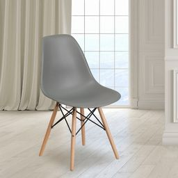 Flash Furniture Elon Series Plastic Chair with Wooden Legs | Target