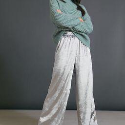 Anastacia Velvet Wide-Leg Pants   Anthropologie (US)