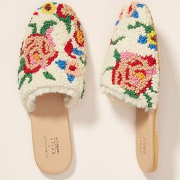Emily Isabella Sherpa Slippers   Anthropologie (US)
