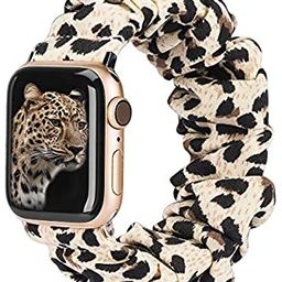 TOYOUTHS Compatible with Apple Watch Band Scrunchies 38mm Cloth Soft Pattern Printed Fabric Wrist... | Amazon (US)