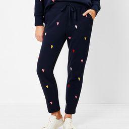 Lou & Grey Colorful Heart Terry Sweatpants | LOFT