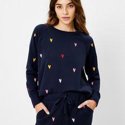 Lou & Grey Colorful Heart Terry Sweatshirt | LOFT