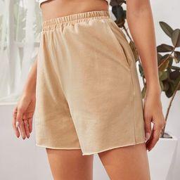 SHEIN Slant Pocket Shorts   SHEIN