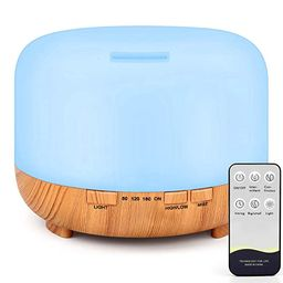 RENWER Essential Oil Diffuser, 500ml Remote Control Diffusers for Essential Oils, Ultrasonic Humi... | Amazon (US)