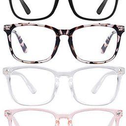 Blue Light Blocking Glasses Square Nerd Eyeglasses Frame Anti Blue Ray Computer Glasses Non Presc... | Amazon (US)