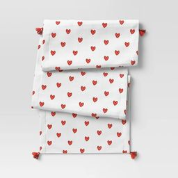 """72"""" x 14"""" Cotton Hearts Table Runner - Opalhouse™   Target"""