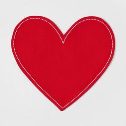 Cotton Embroidered Heart Shaped Placemat Red - Opalhouse™   Target