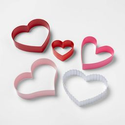5pc Stainless Steel Heart Cookie Cutter Set - Spritz™   Target
