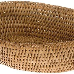 "KOUBOO 1020034 La Jolla Rattan Bread Bowl, Honey Brown, 9.5"" x 8"" x 2.5"" | Amazon (US)"