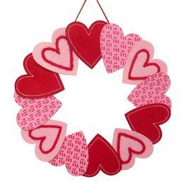 Felt Valentine's Heart Wreath - Spritz™ | Target