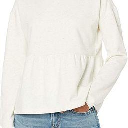 Amazon Brand - Goodthreads Women's Heritage Fleece Long Sleeve Crewneck Peplum Sweatshirt | Amazon (US)