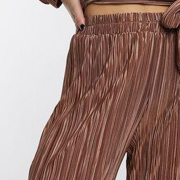 Moon River plisse set pants in pink | ASOS (Global)
