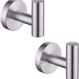 KES Bathroom Wall Towel Hooks No Drill Heavy Duty Robe Hook Holder SUS304 Stainless Steel Brushed... | Amazon (US)