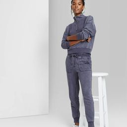 Women's High-Rise Skinny Vintage Jogger Pants - Wild Fable™ Blue | Target
