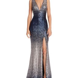 Sequin V-Neck Gown - 100% Exclusive | Bloomingdale's (US)