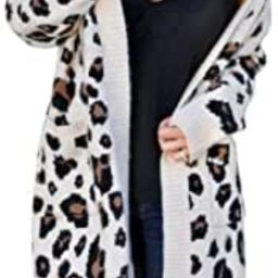 Women's Cardigans with Pockets Oversized Loose Leopard Printed Open Front Knitted Kimono Long Sle...   Amazon (US)