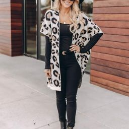 Secret Love Notes Animal Print Brown Cardigan   The Pink Lily Boutique
