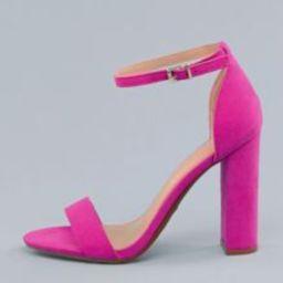 Open Toe Ankle Strap Block Heel Sandals | SHEIN