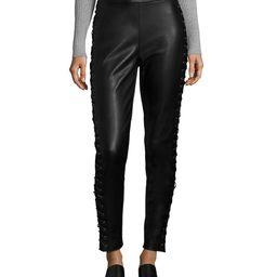 Bagatelle Lace-Up Leather Legging | Gilt