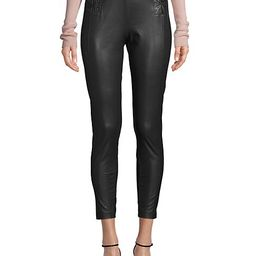 Lace-Up Faux Leather Cropped Pants | Saks Fifth Avenue OFF 5TH