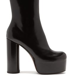 Vetements - Platform Heeled Leather Ankle Boots - Womens - Black | Matchesfashion (Global)